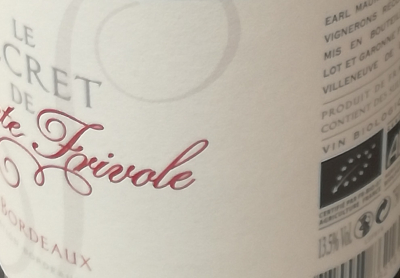 BORDEAUX - SAINTE FRIVOLE - ROUGE - 2014 - 75CL - 13,5%