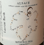 RIESLING - BLANC - 75CL - ALSACE - 2016 - 13%