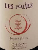 LES FOLIES - ROUGE - CHINON - 75CL - 12,5% - 2018