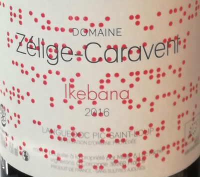 IKEBANA - ROUGE - PIC ST LOUP - LANGUEDOC - 2016 - 75CL - 13,5%