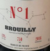 BROUILLY - ROUGE - N°1 - BEAUJOLAIS - 2018 - 75CL - 13 %