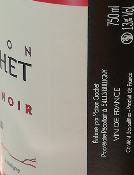 PINOT NOIR - VDF - ROUGE - 75CL - 13% - 2018