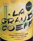 LA GRAND COEFF - BIERE BLONDE - 5,5 % - MORBIHAN - 75CL