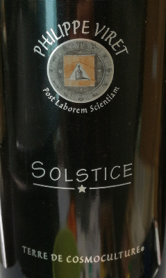 SOLSTICE - VIN DE FRANCE - ROUGE - 13,5% - 75CL - 2020